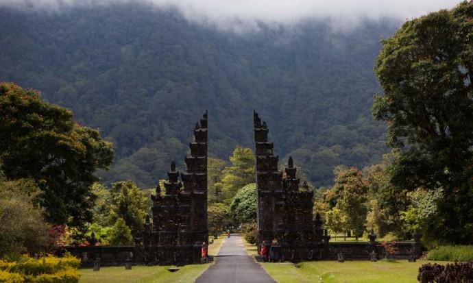 Gate on Bali road trip