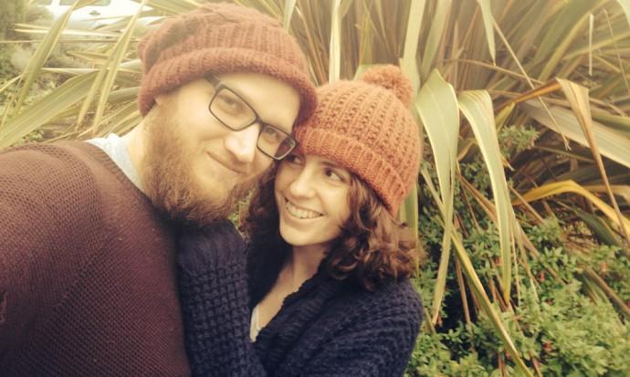 Us in Devon garden