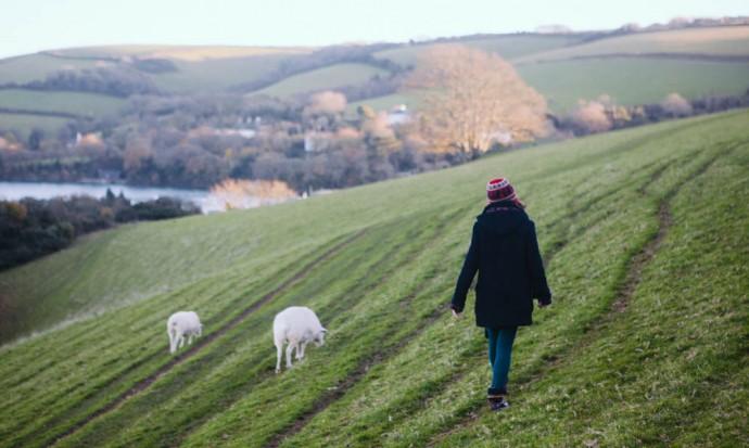 Victoria walking in Devon