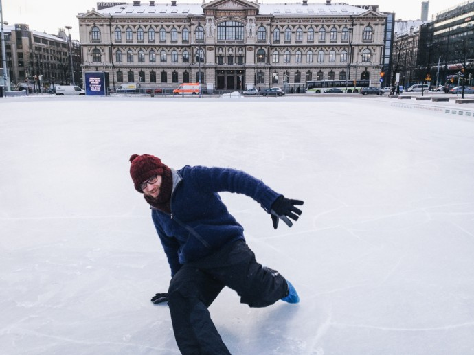 Steve breakdancing in Helsinki
