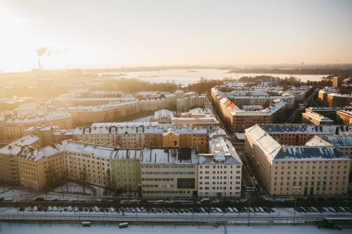 Helsinki from above