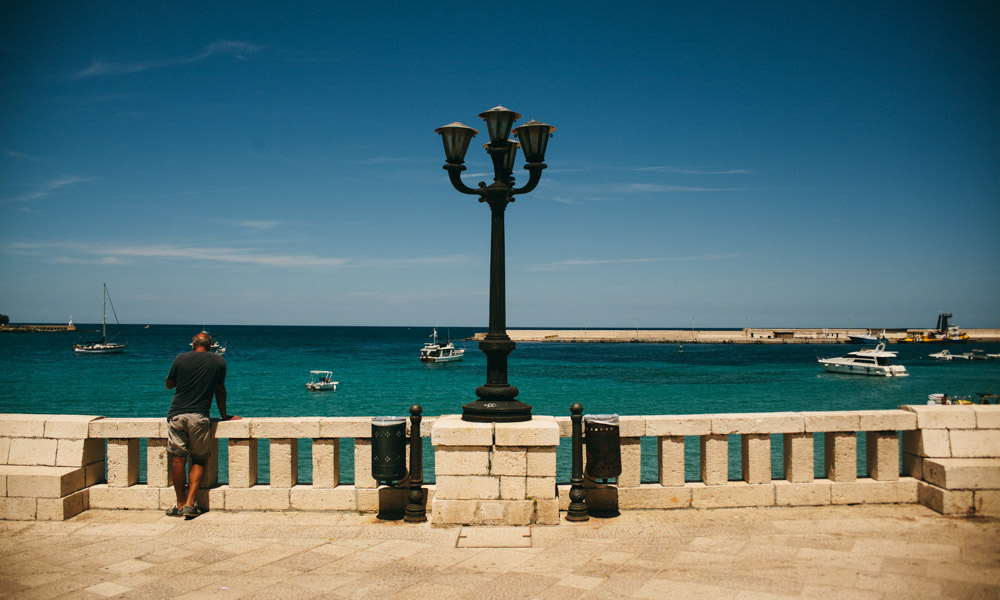 Otranto boulevard is a gorgeous sight in Puglia