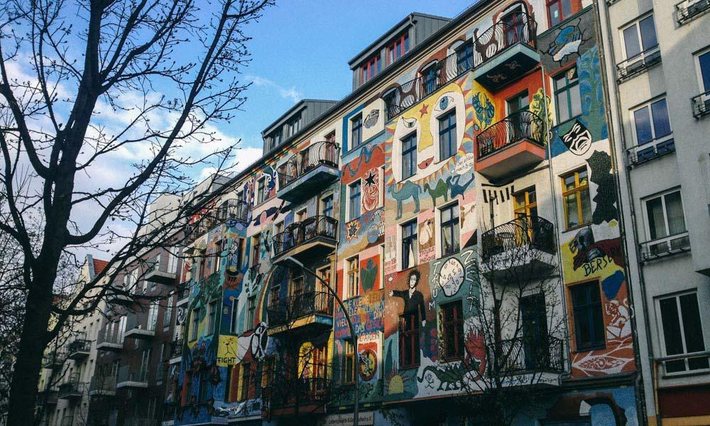 Berlin street art house