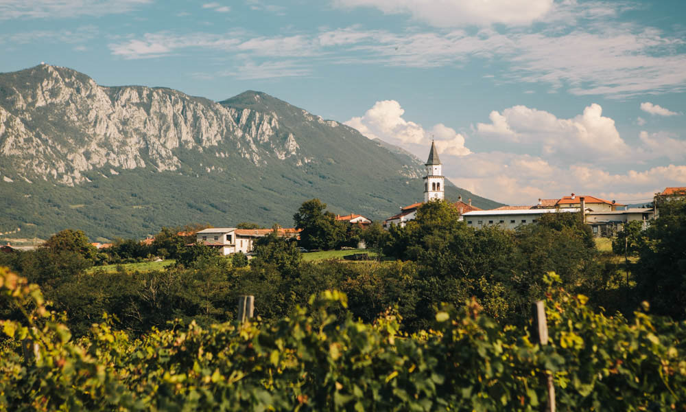 View from Majerija – one of the best vegetarian meals in Slovenia
