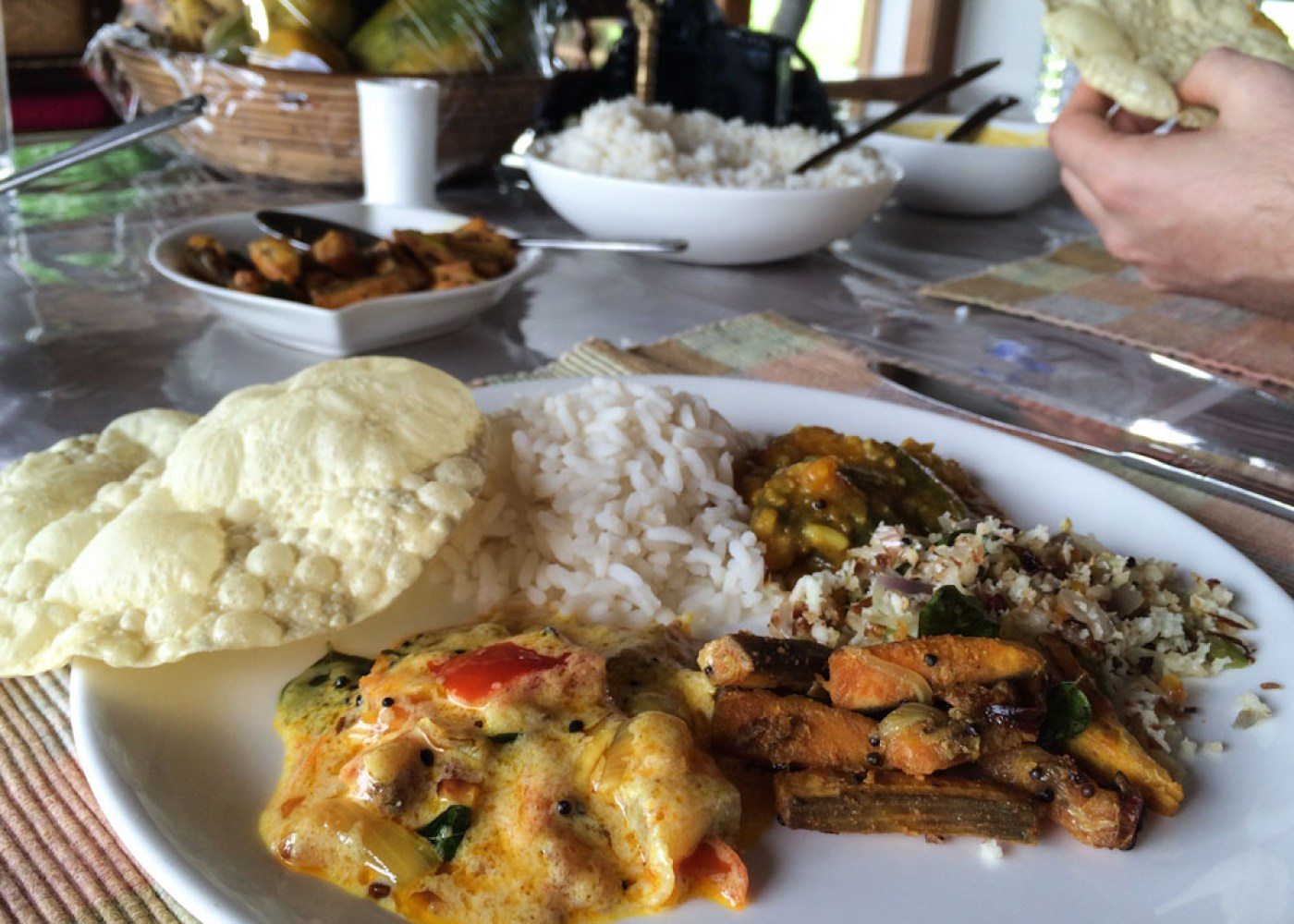 Food on best Alleppey houseboat