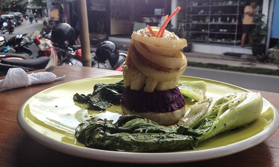 Vegetarian power tower at Soma – one of Ubud's best veggie meals