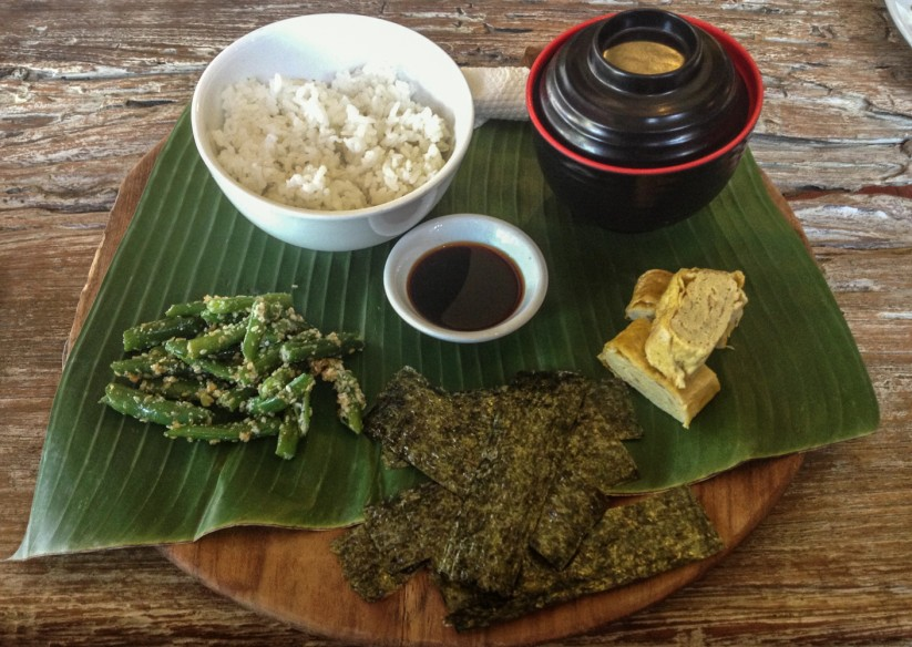 Vegetarian japanese food at Vespa, Ubud