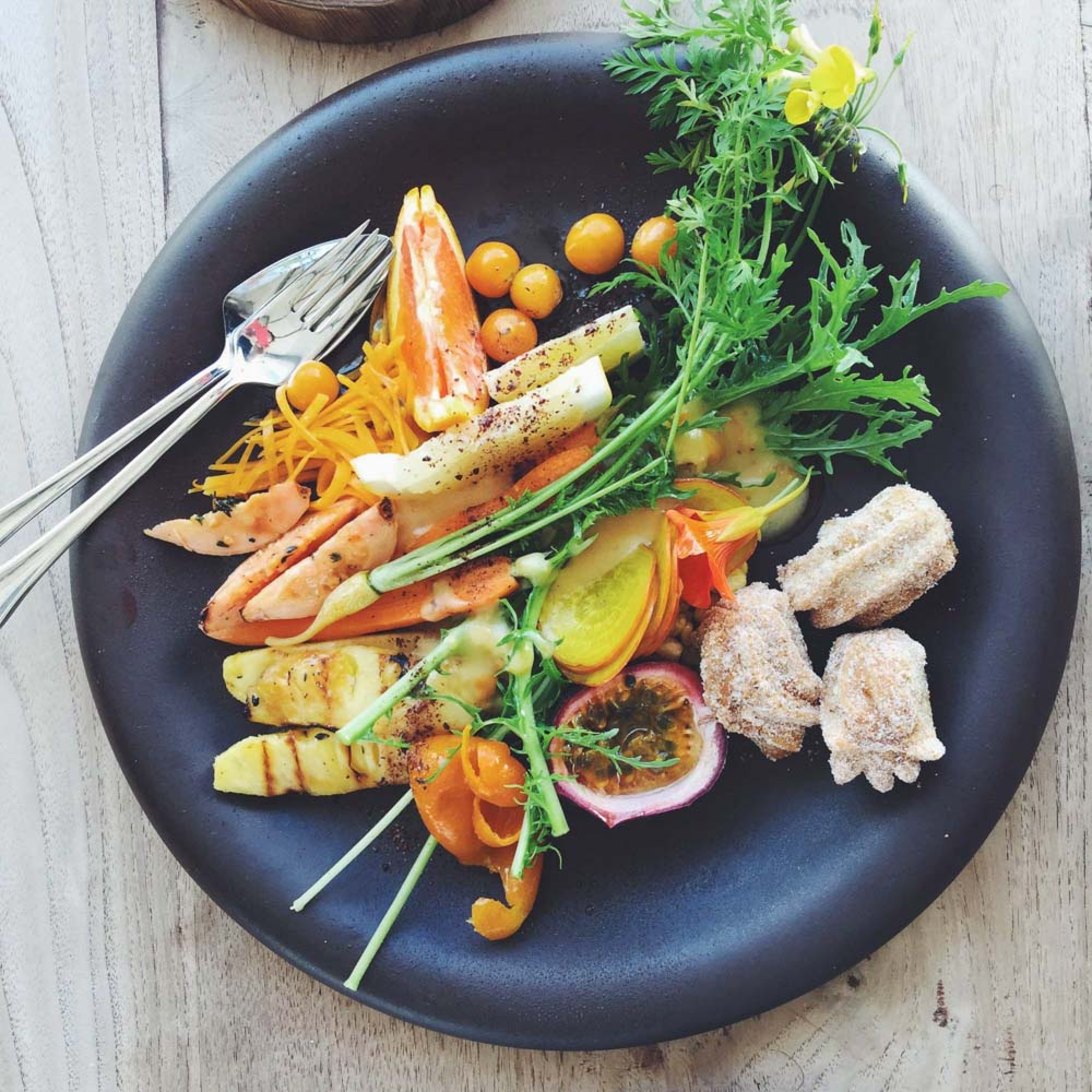 Gourmet food in winelands, south africa