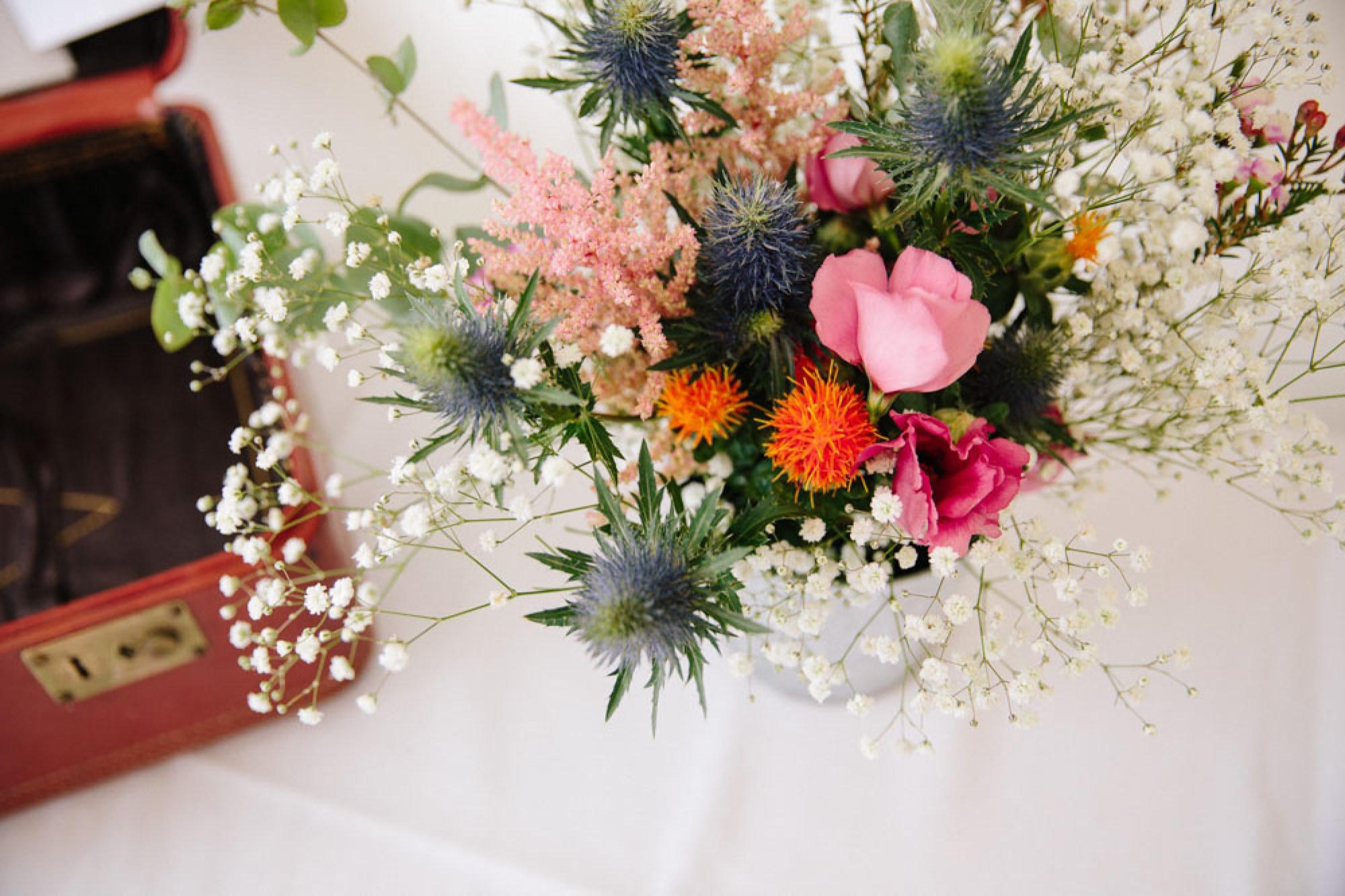 DIY flowers for festival wedding