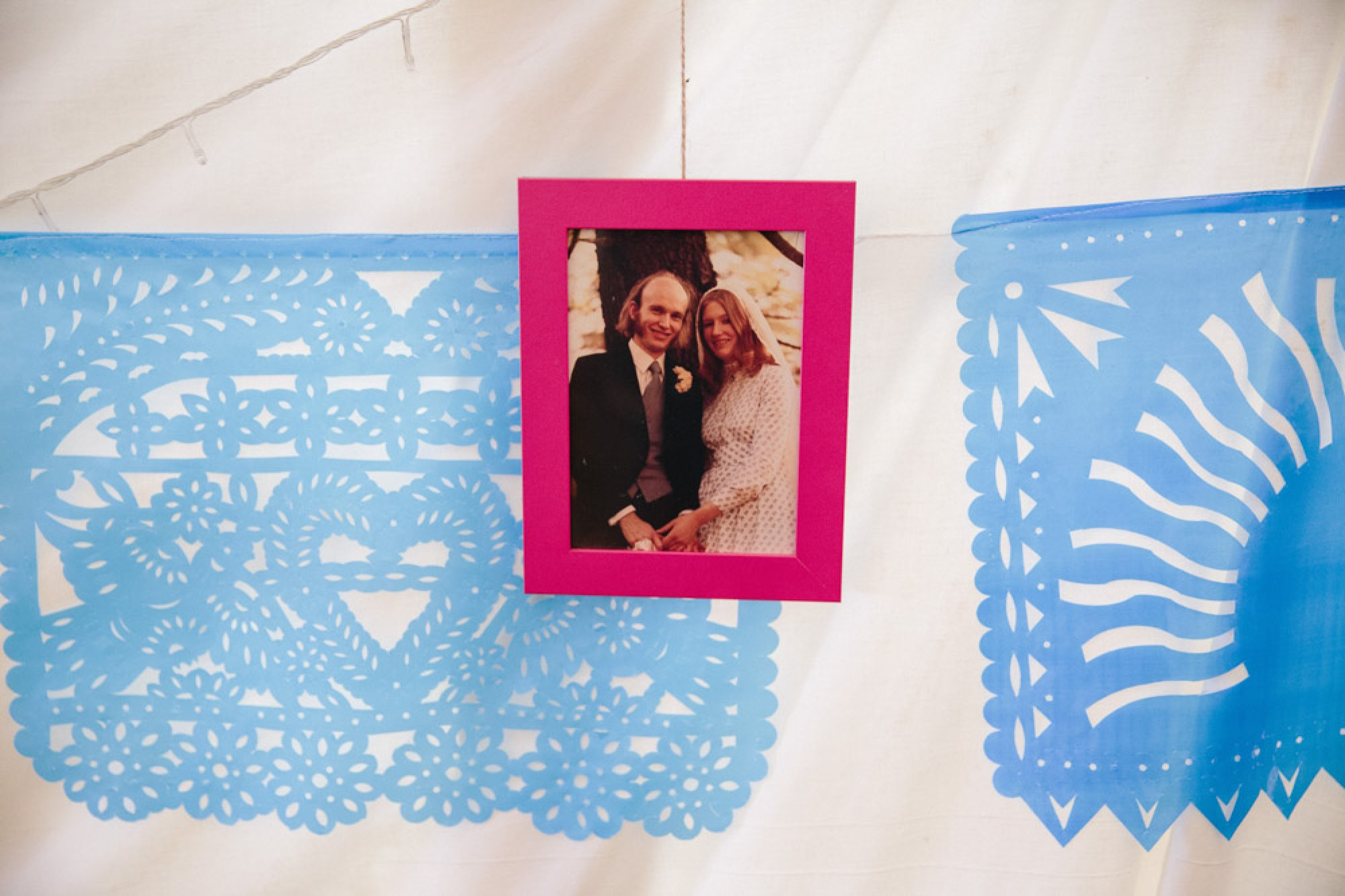 Photo frame with Steve's parents' wedding day