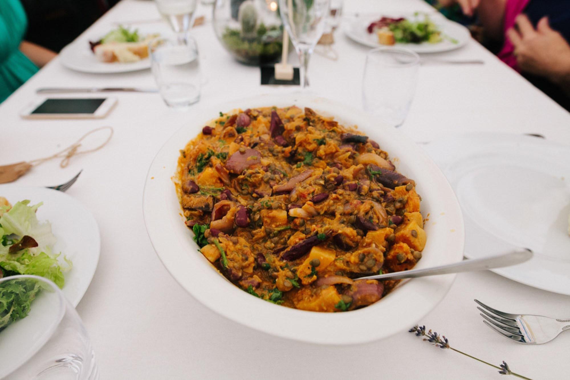 Vegetarian chilli by Fee Turner Catering