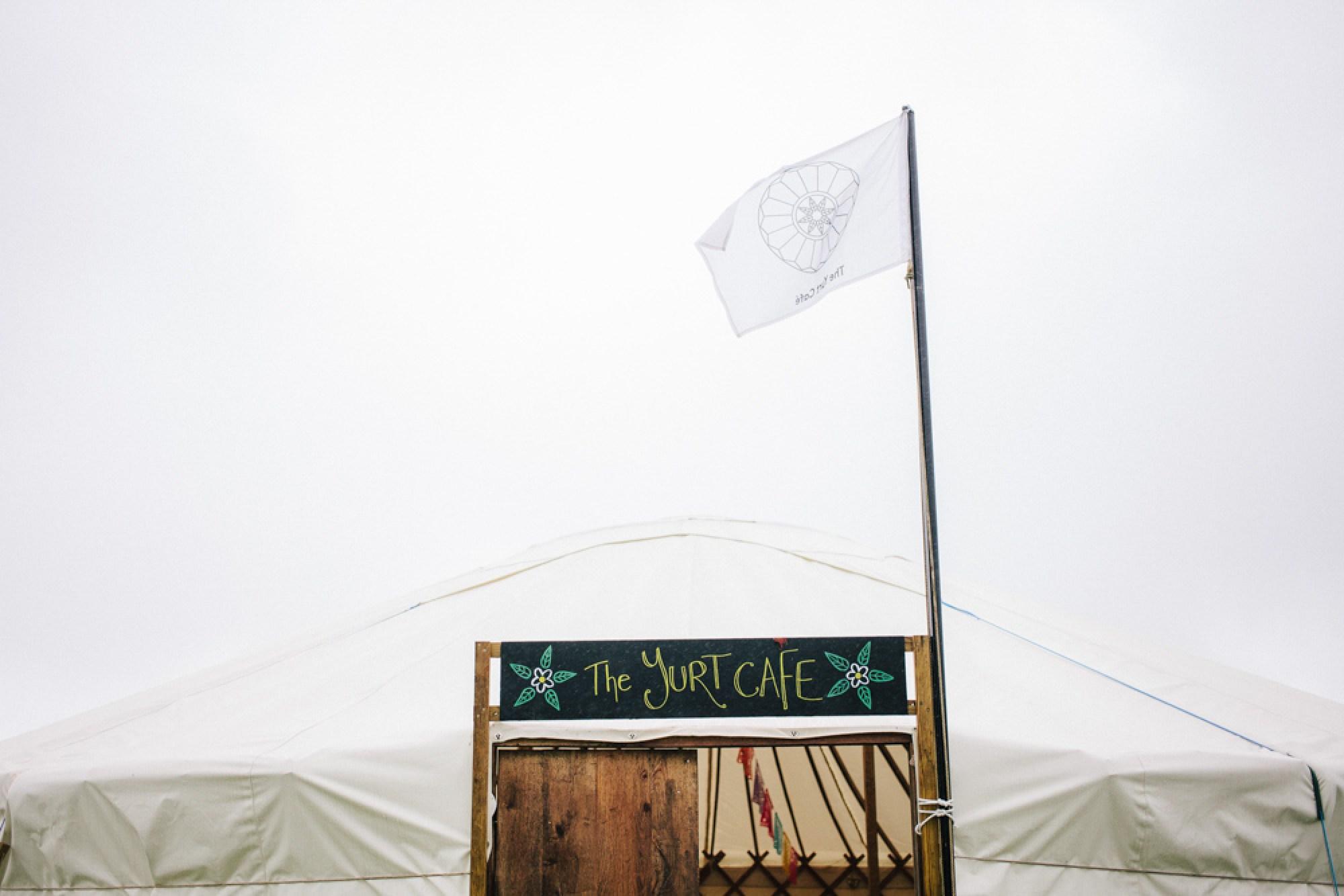 Yurt cafe at Cornish Tipi Weddings