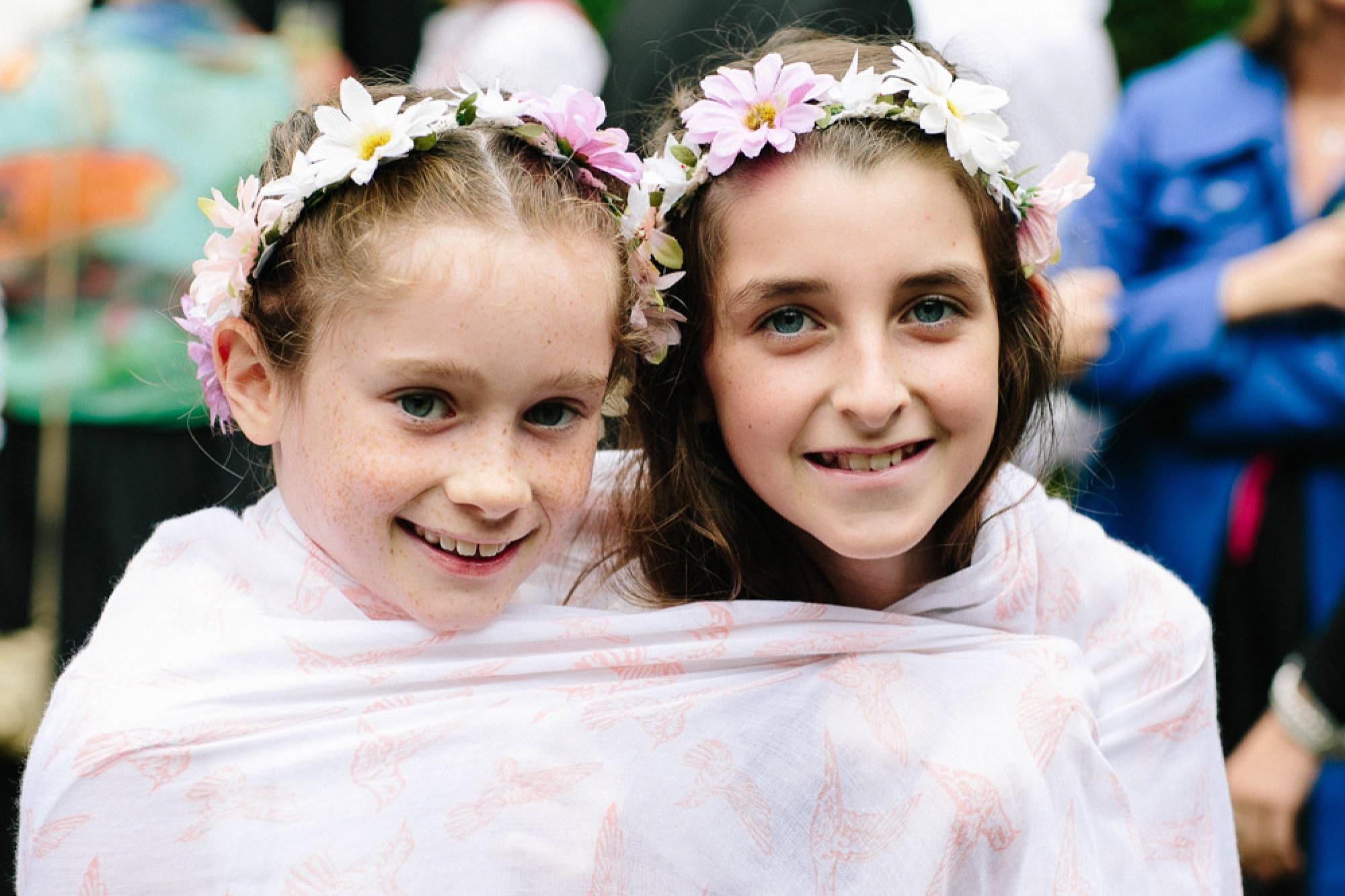 Festival wedding flower girls