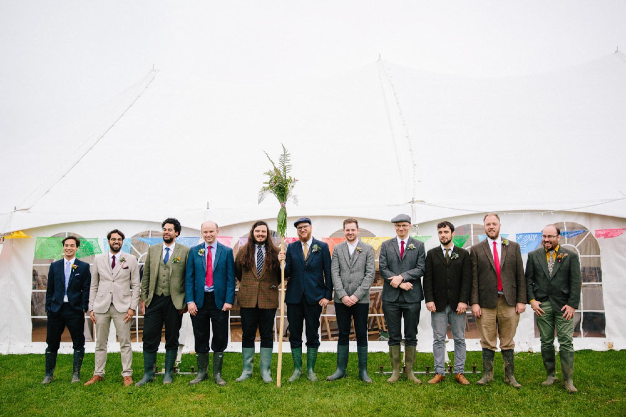 Steve and his groomsmen