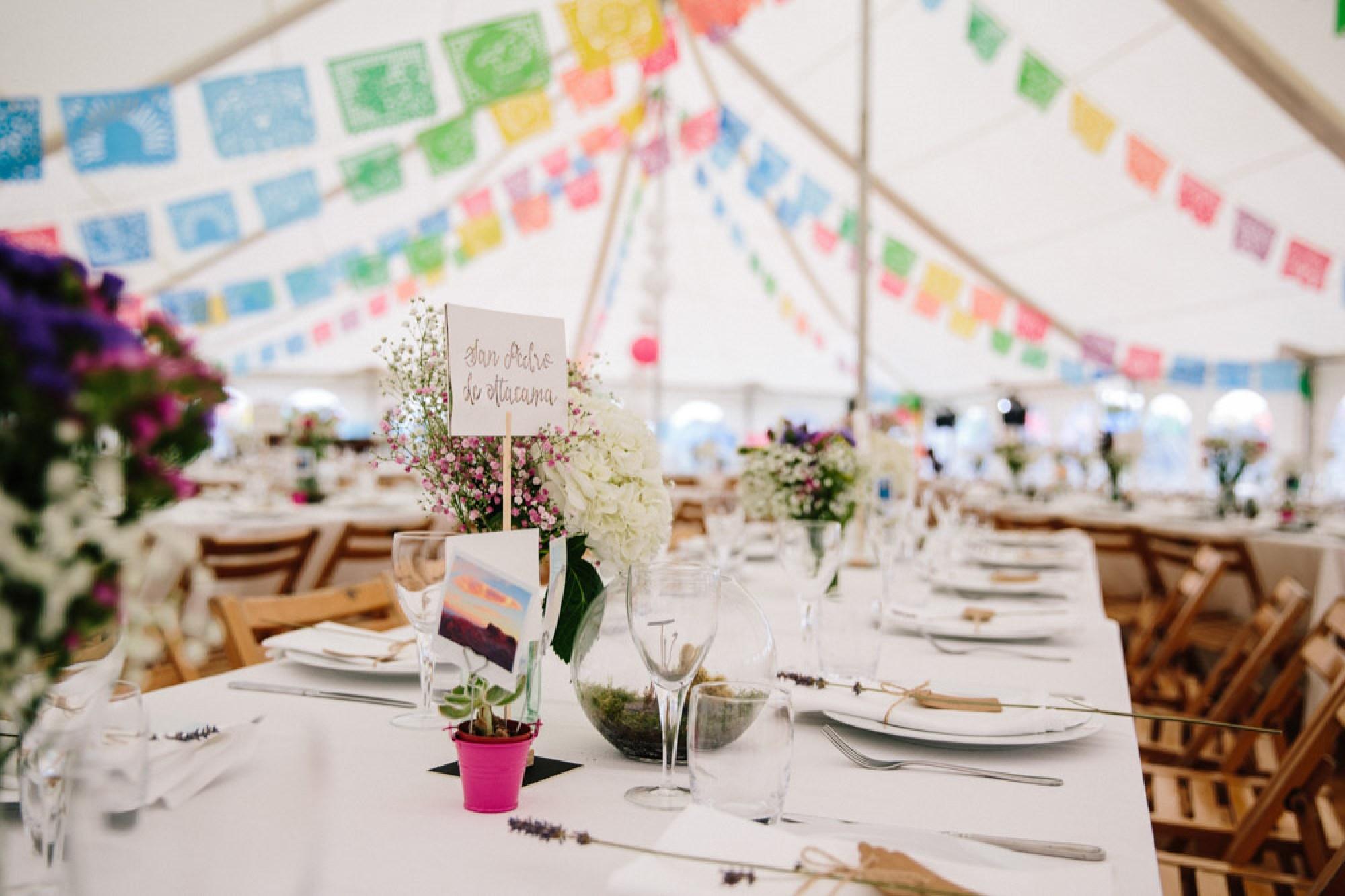 Papel picado wedding decorations