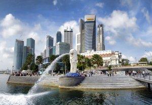 singapore, merlion park, asia