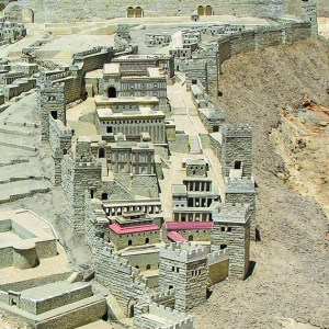 City of David. The Second Jerusalem Temple. Model in the Israel Museum.