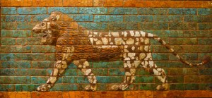 Babylon. Exhibit in the Oriental Institute Museum, University of Chicago, Chicago, Illinois, USA. This work is old enough so that it is in the public domain. Photography was permitted in the museum without restriction.
