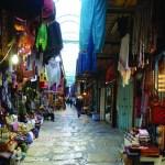 The Old City market in Jerusalem. .שוק העיר העתיקה בירושלים