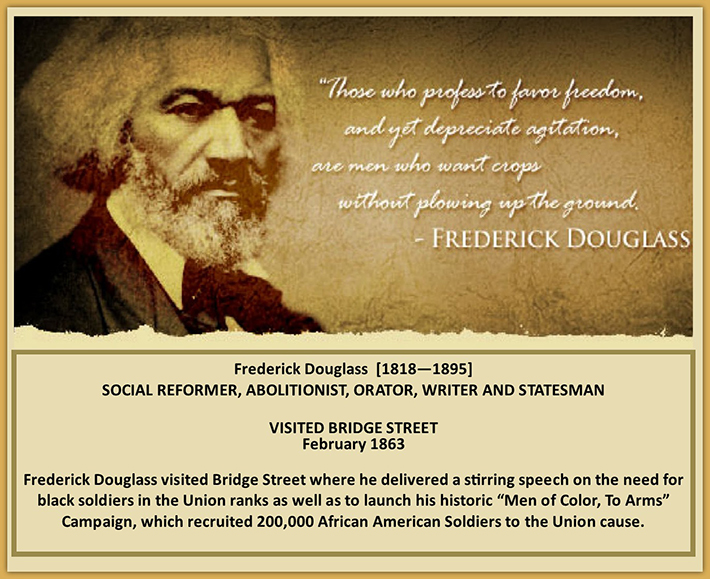 Frederick Douglass Visits Bridgestreet
