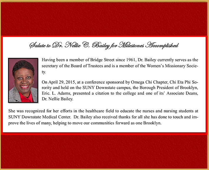 Members Milestones - Nellie Bailey