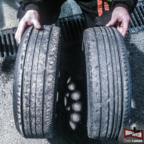 These tyres had been driven over 12 hours