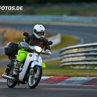 This guy rode his 110cc Scooter 18,000kms to the Nürburgring. Then he did 2 laps...