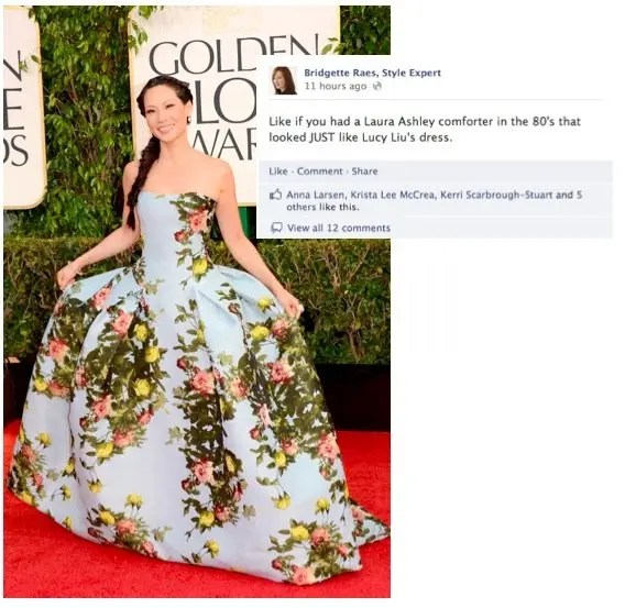 Lucy Liu 2013 Golden Globes Fashion