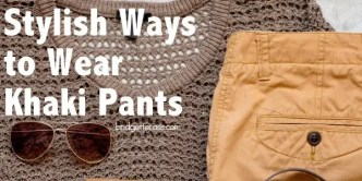 wear khaki pants