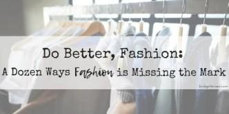 do better, fashion