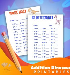 Dinosaur Addition Worksheets 1-10 - Welcome [ 2560 x 2560 Pixel ]