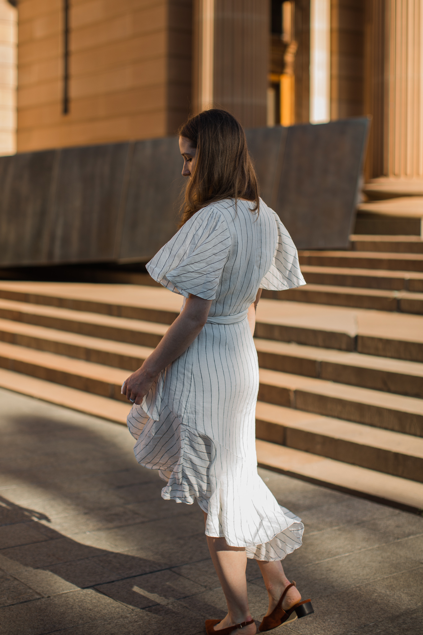 Linen country road dress for spring