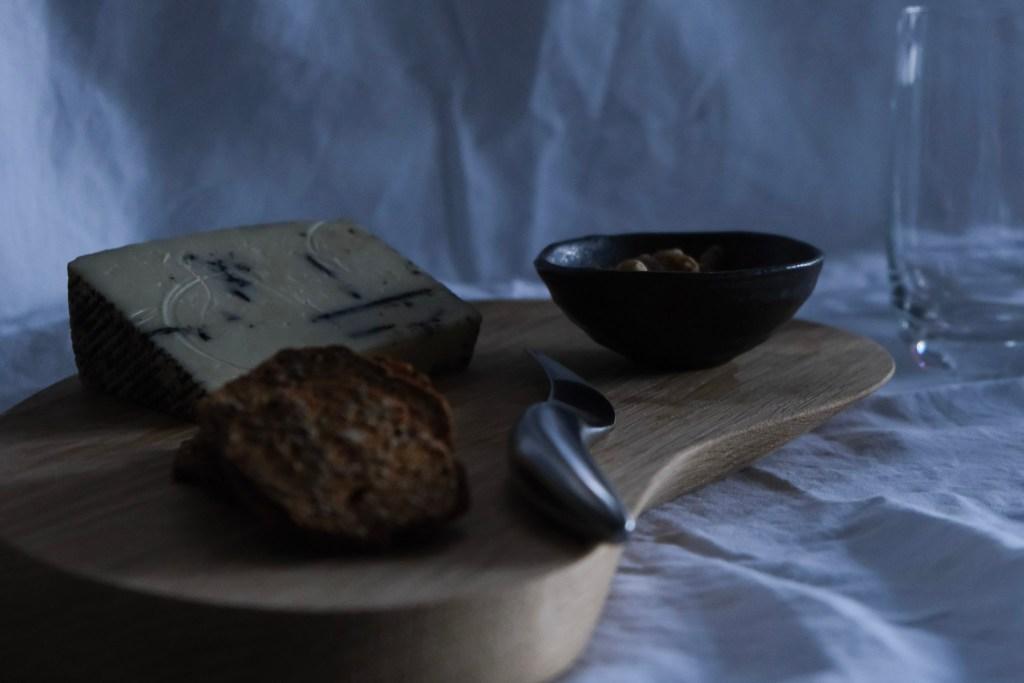 George Jensen cheeseboard with Spanish truffle percorino cheese