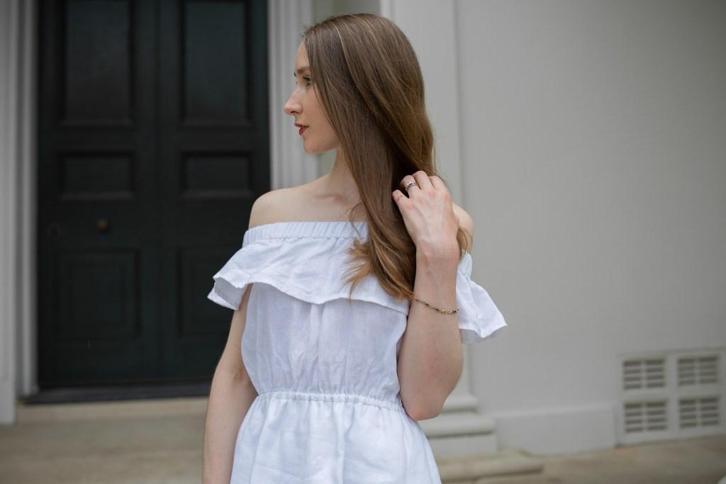 Summer style, linen dress, summer sundress, straw hat, summer style, spring dress