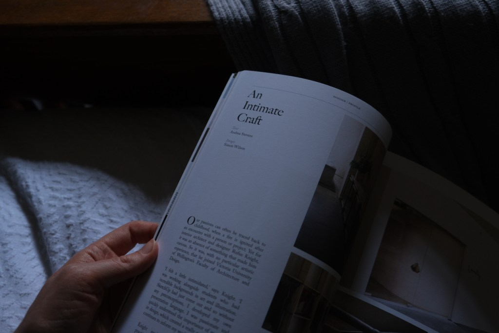 How to be more creative. Photo of a design magazine. Slowing down, taking time out to do the things that matter to you, slow living.