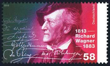 Neue deutsche Briefmarken zu Ehren Richard Wagners.