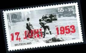 Zuschlagsmarke in Erinnerung an den Volksaufstand aus dem Jahre 2003.
