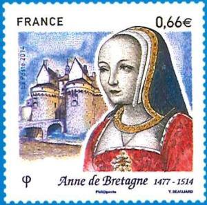 Anne de Bretagne auf Briefmarke