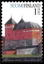 Burg Haeme auf finnischer Briefmarke