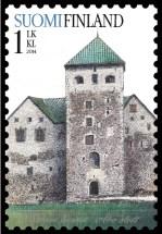 Burg Turku auf finnischer Briefmarke