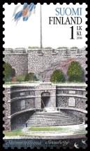 Finnenburg auf finnischer Briefmarke