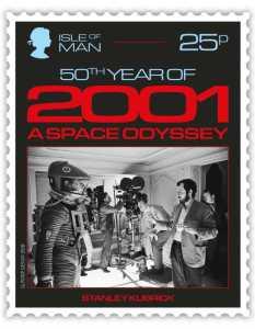 2001: Odyssee im Weltraum - Briefmarke Isle of Man - Stanley Kubrick