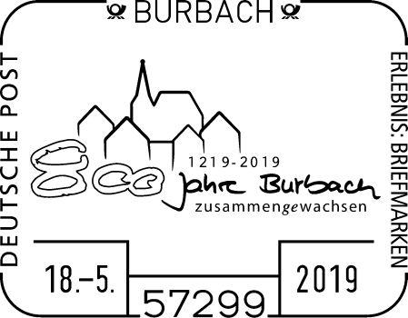 Sonderstempel 800 Jahre Burbach