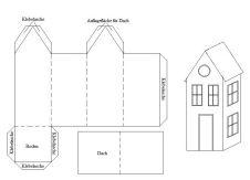 Häuser basteln aus papier