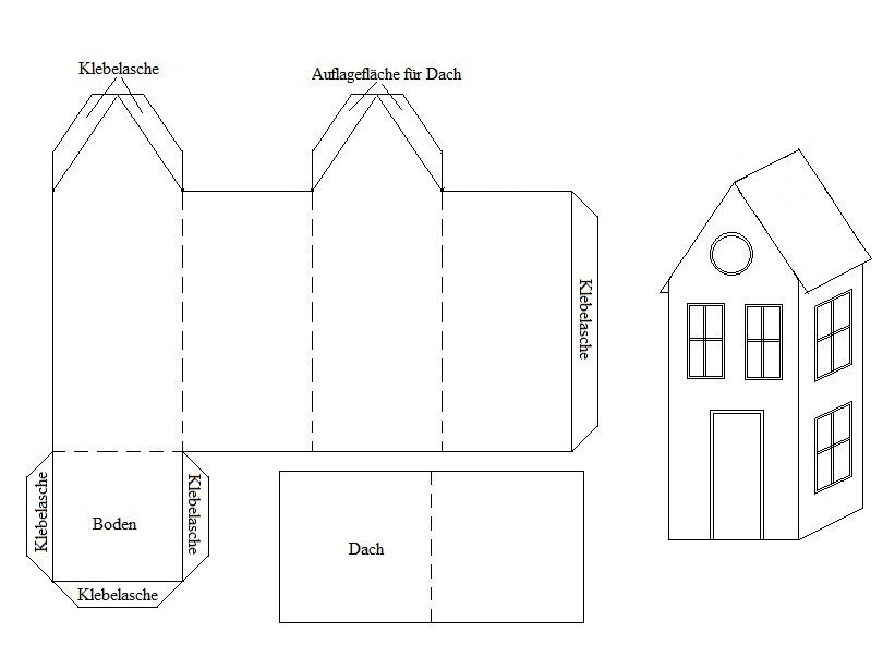 anleitung zum basteln h uschen aus papier falten. Black Bedroom Furniture Sets. Home Design Ideas