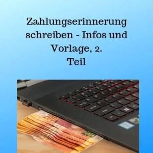 Zahlungserinnerung Schreiben Infos Und Vorlage 2 Teil