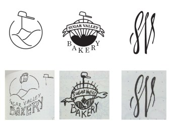 rough sketches and initial concepts