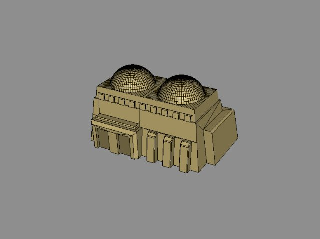 Twin-dome building