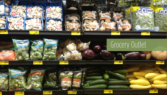produce section at Grocery Outlet