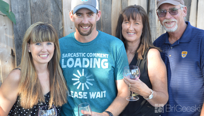 Family Fun at a Summer Wine Party